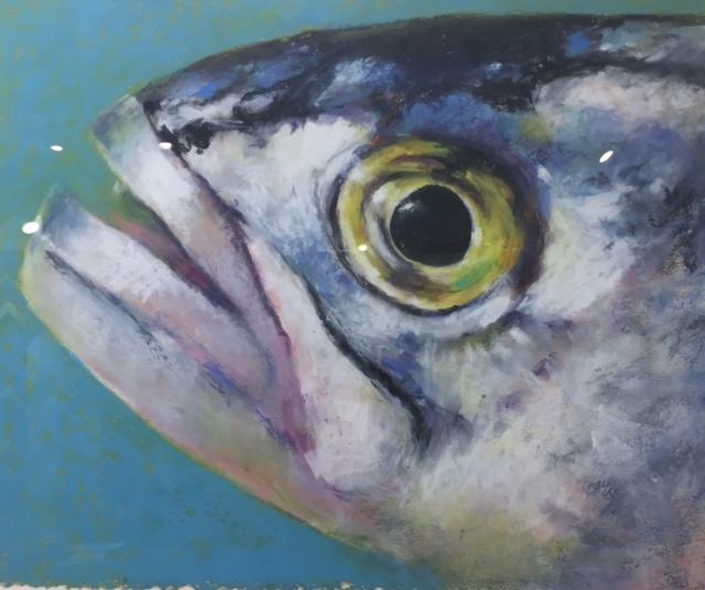 Gail Higginbotham Fish eye 2 oil pastel at West Annapolis Artworks (1).jpg
