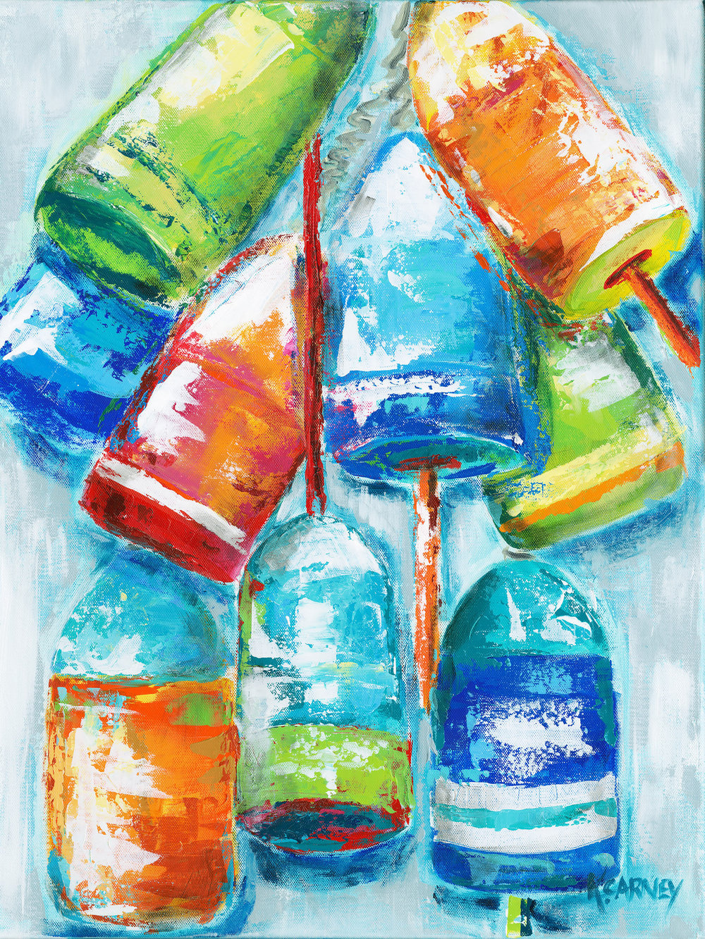 Katherine Carney Bouys Hang Out acrylic at West Annapolis Artworks.jpg