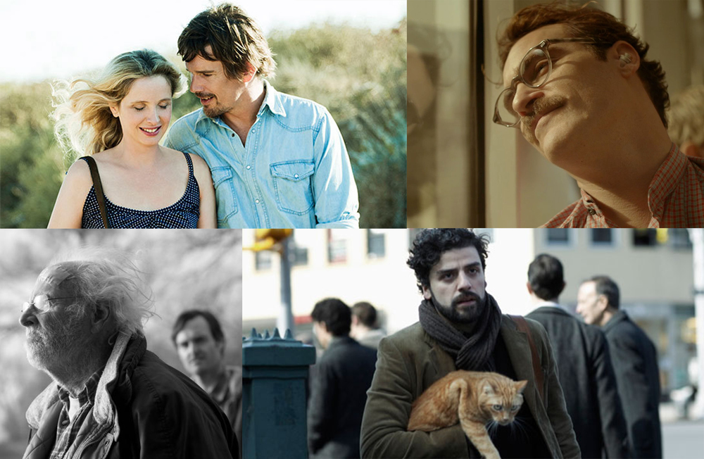 Films featured above from L to R: Before Midnight, Her, Nebraska, Inside Llewyn Davis.