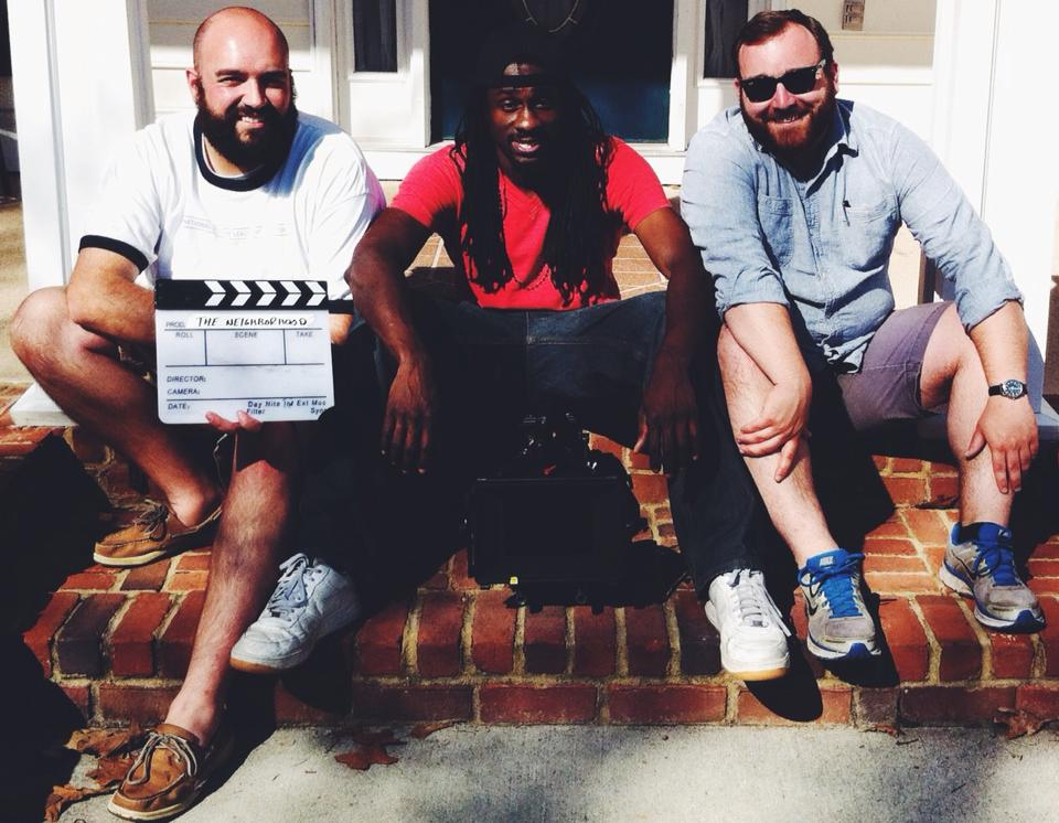 Featured L to R: Steven Nyberg (Producer), Dwayne Green (Cinematographer), Kyle Taubken (Writer/Director)