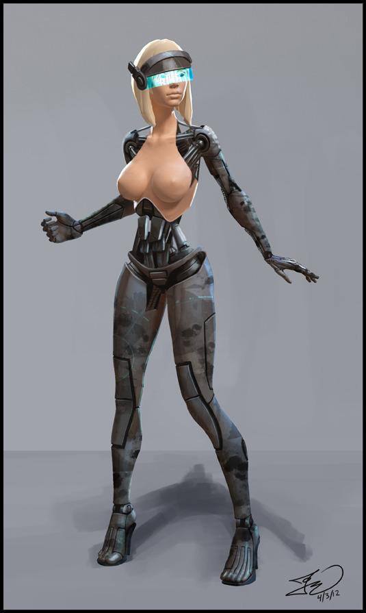 MMORPG Cyborg Girl Concept