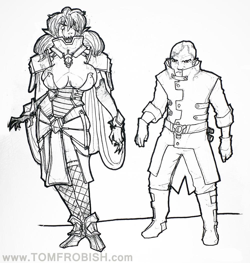 Evil guy with Golem