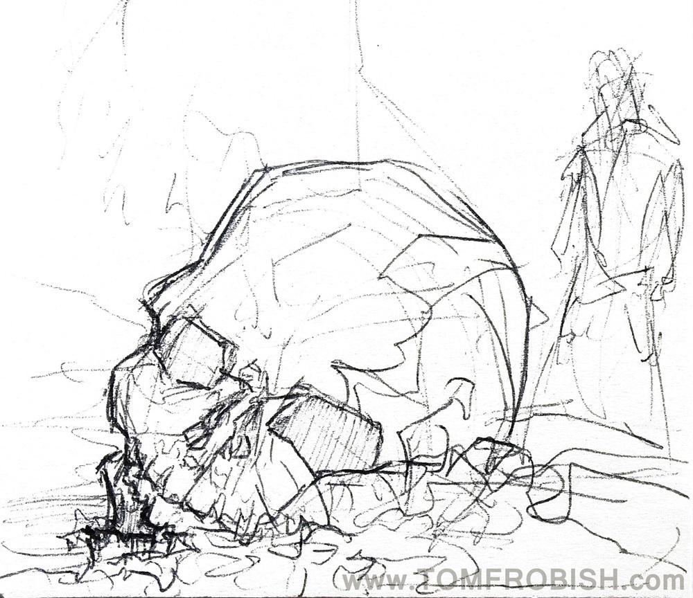 Skull Comp Sketch