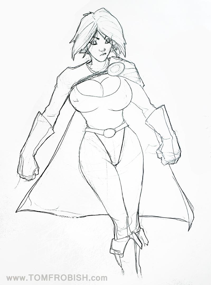 Powergirl Floating