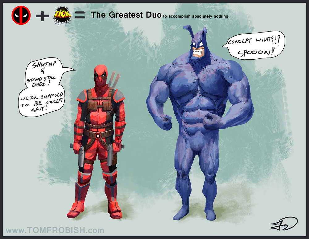 Tick and Deadpool Concept