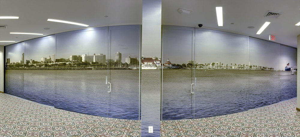 Sliding Wall Gigapixel mount at the MAYA hotel in Long Beach California - VIEW PROJECT