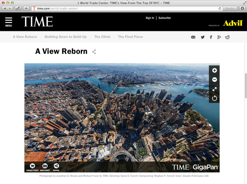 SEE THE WEBPAGE CONTAINING THE INTERACTIVE VIEWER AS WELL AS THE COMPANION CONTENT AT 1 WORLD TRADE CENTER: THE TOP OF AMERICA / TIME