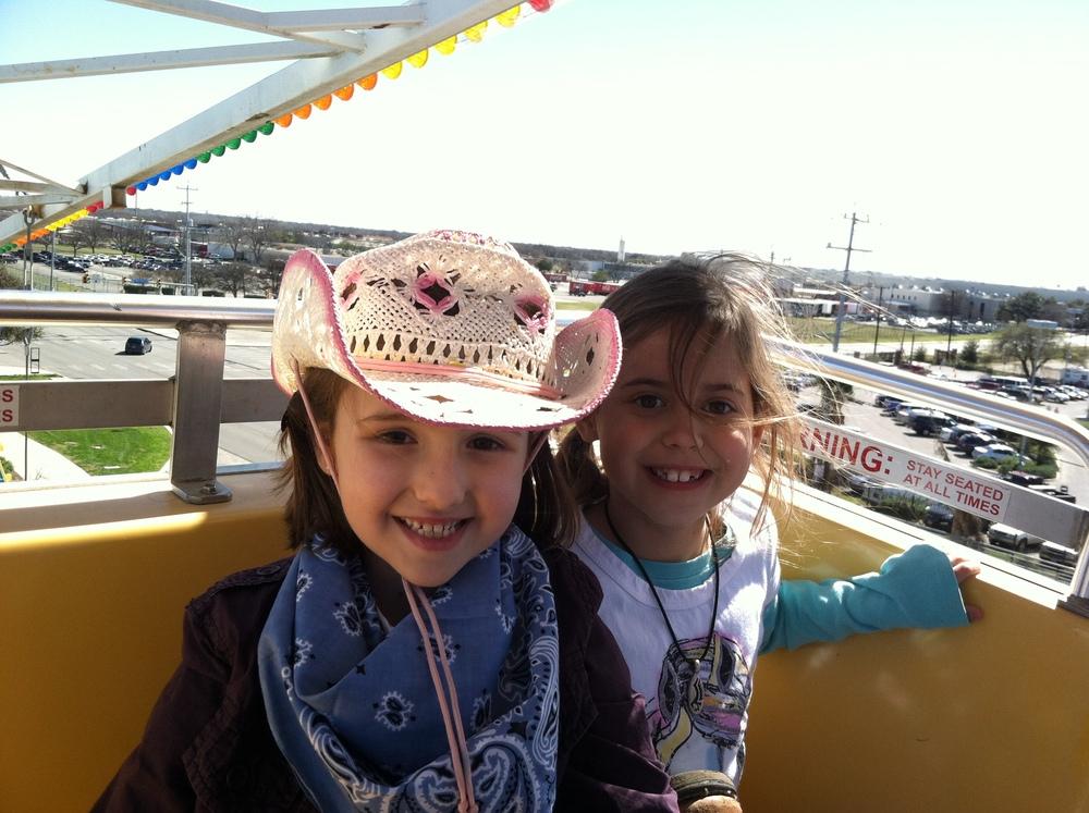 Gabi and Alena at the San Antonio Rodeo