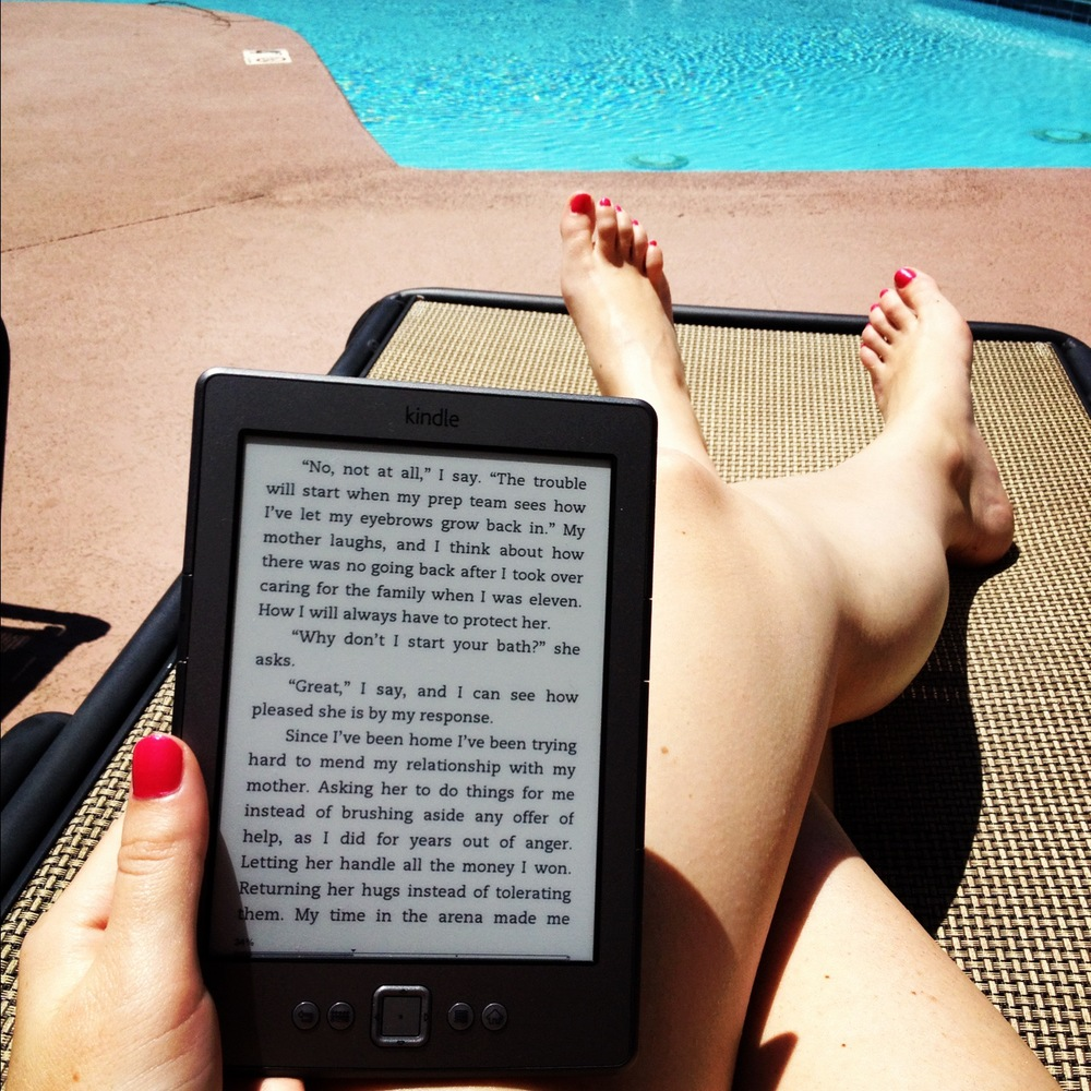 kindle by pool.JPG