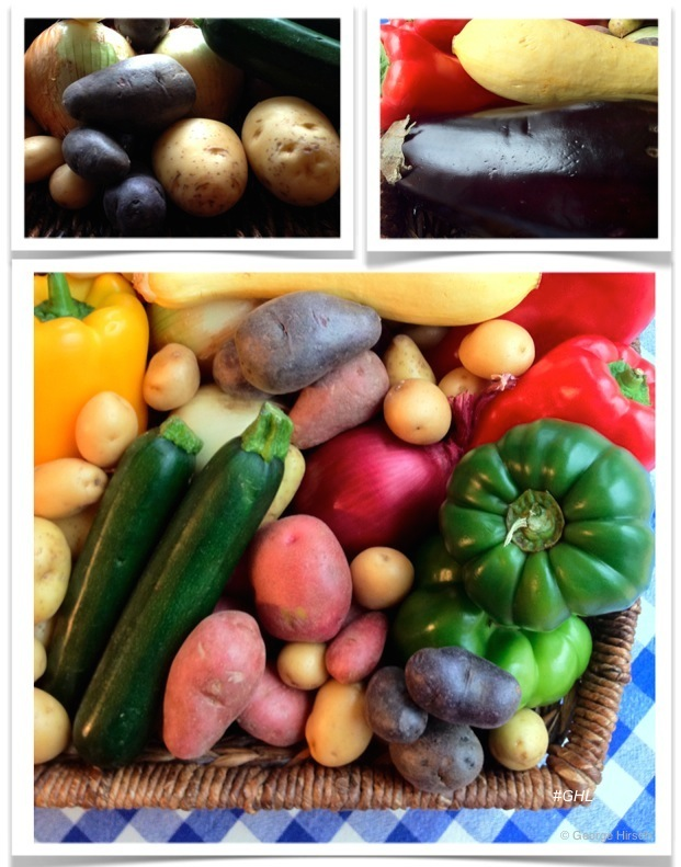 George Hirsch Basket of Fresh Picked Farm Vegetables