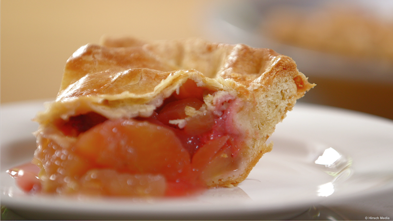 George Hirsch Lifestyle Strawberry Apple Rhubarb pie