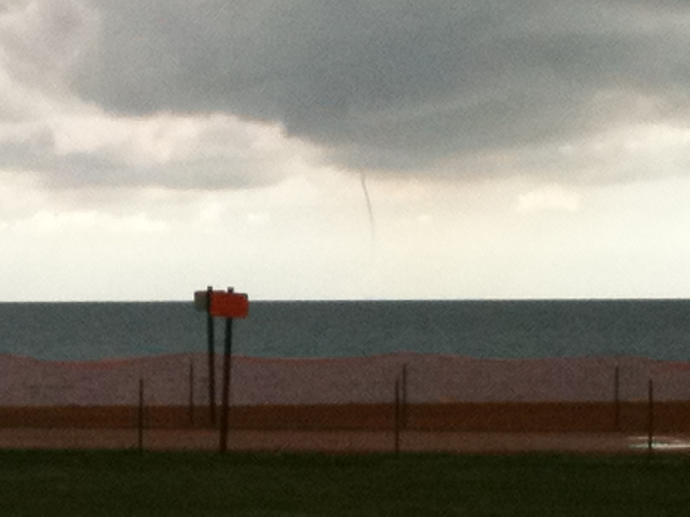 Water spout over Lake Michigan September 24, 2011. (c) Paul Bryar