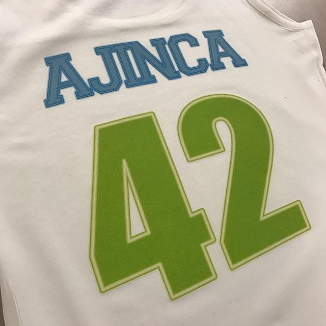 Neon style jersey numbers #WePrintShirts