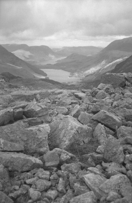 "A view of Buttermere and Crummock Water. Taken handheld in 2014 with a Contessa-Nettel ""Cocarette"" circa 1920."