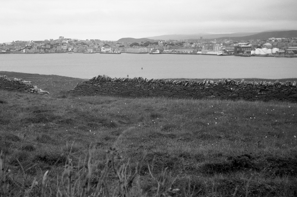 "View of Lerwick, Shetland taken in 2013 with Contessa-Nettel ""Cocarette"" circa 1920. The amount of foreground here speaks to the difficulty of composing with the tiny viewfinder, especially in landscape format."