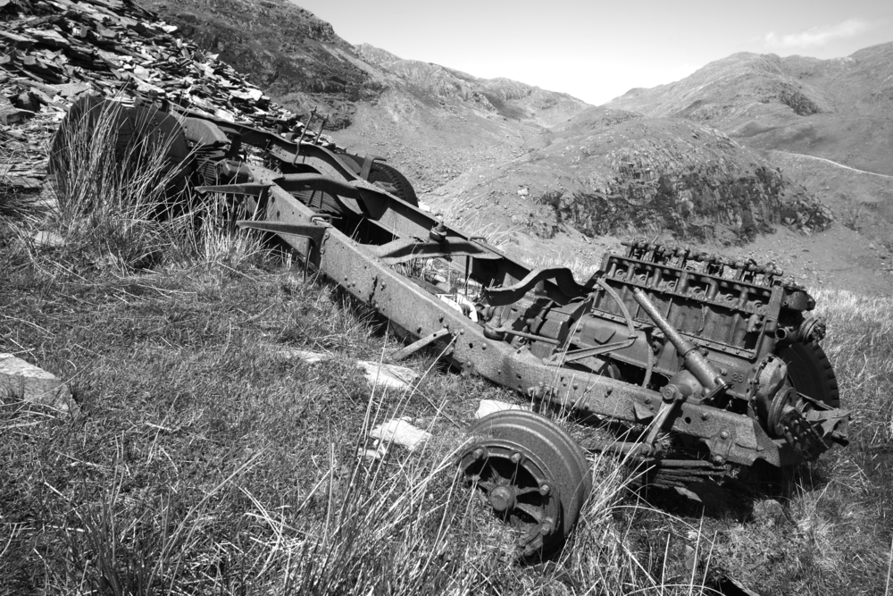 Abandoned truck.