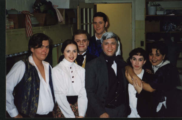 Backstage photo of the cast of Lady Audley's Secret.