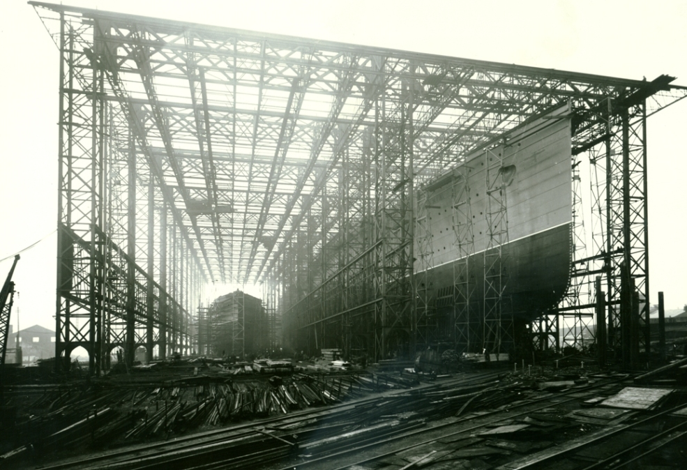 "Photo: ""Mauretania Construction"" from Tyne & Wear Archives & Museums"