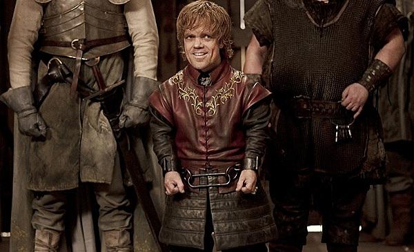 Tyrion Lannister smirking