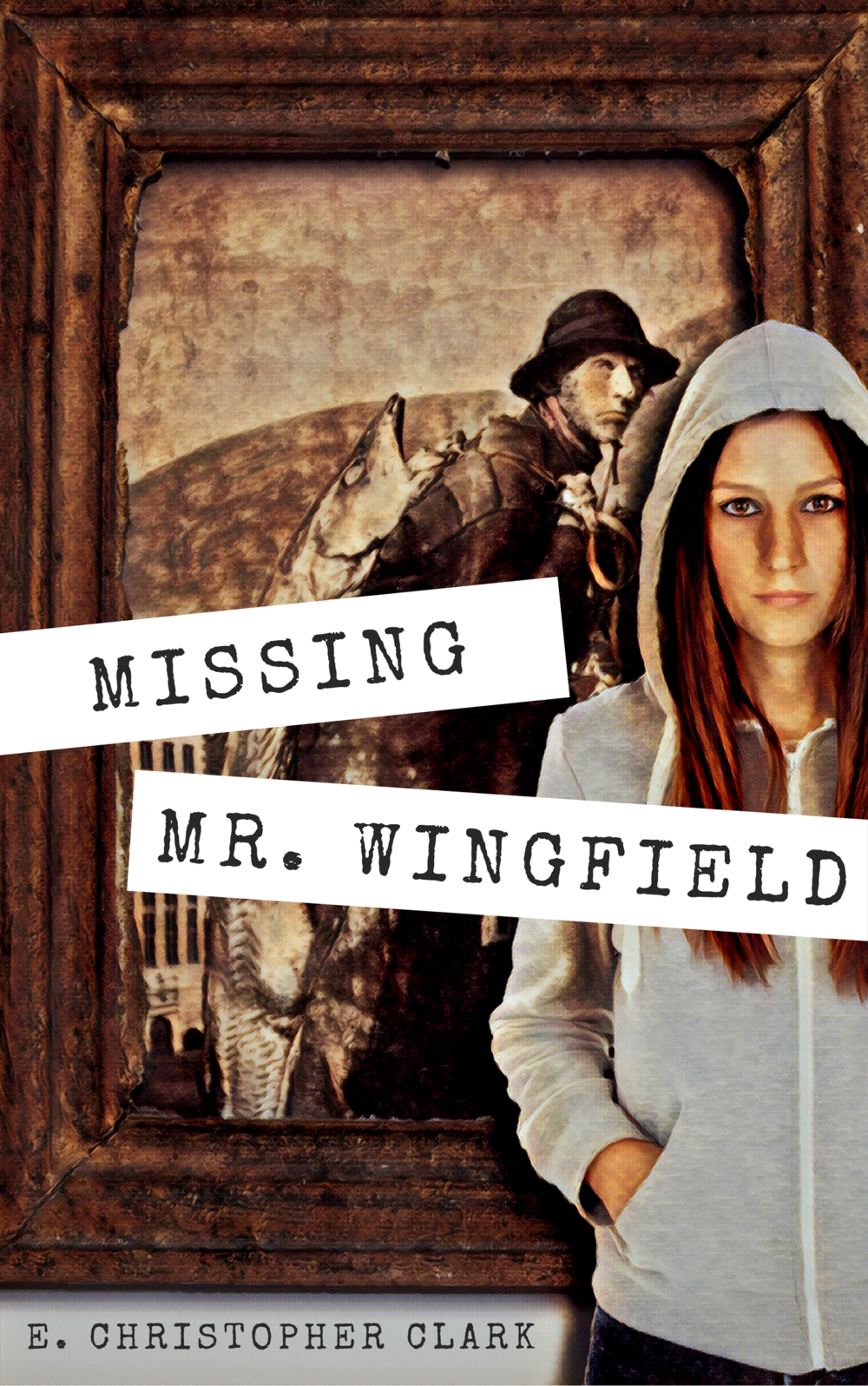 Book cover of the novel MISSING MR. WINGFIELD by E. Christopher Clark