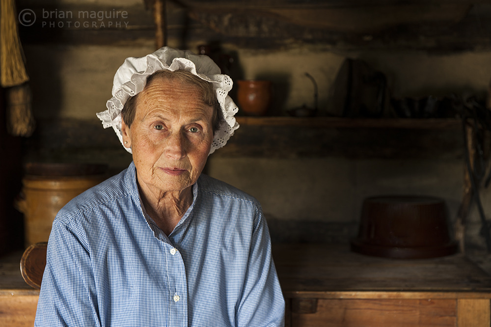 Log Cabin Lady