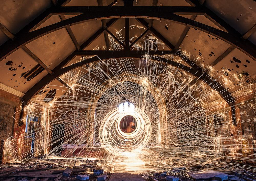 Old church wire wool spin