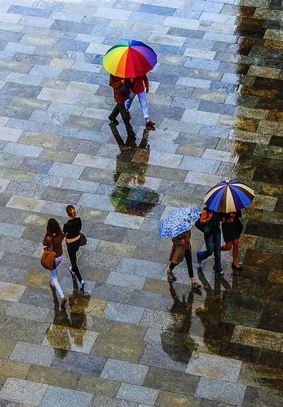 Three Umbrellas