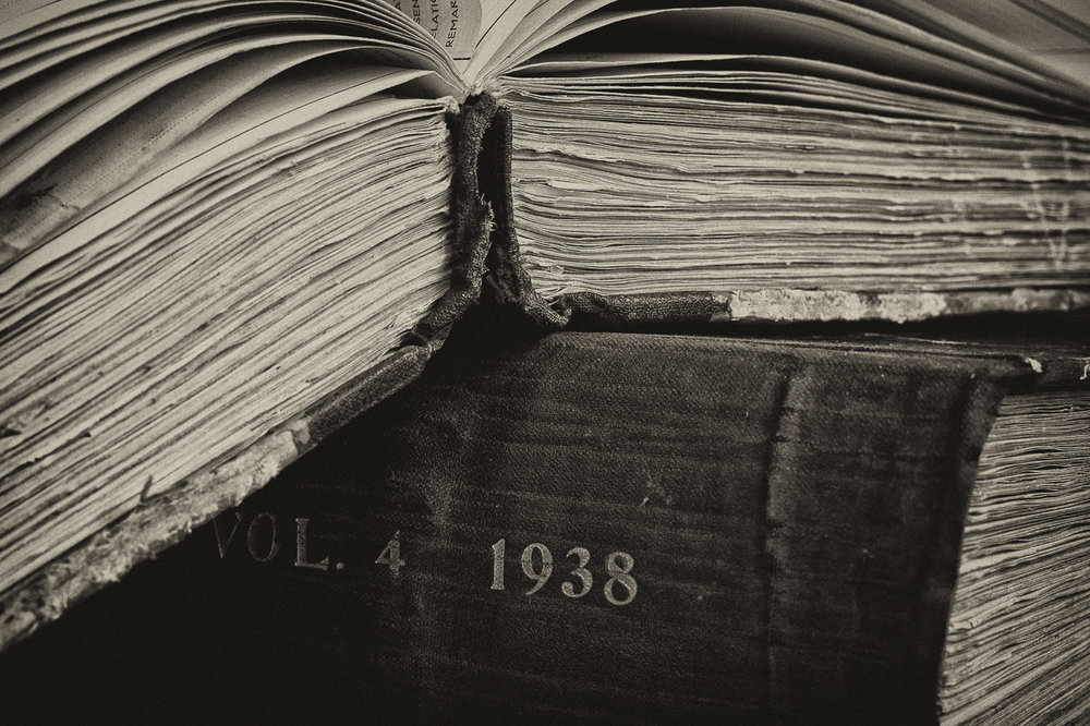 2nd Place - Monochrome Print - Old Medical Records - by Lesley Porter