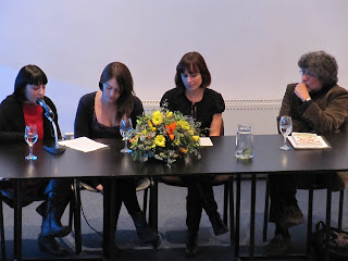Panel discussion at Santiago Library book launch