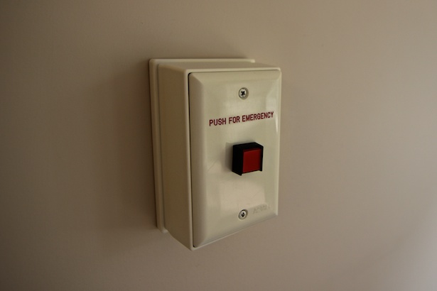 Our emergency response systems call our Wellness staff, 24-7.  You can also wear a pendant with a button.