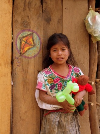 A Guatemalan girl wanted one on her door.