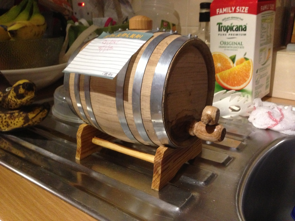 A barrel of whisky