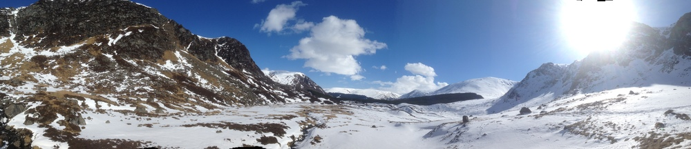Glen Doll, looking into Corrie Fell. Lovely.
