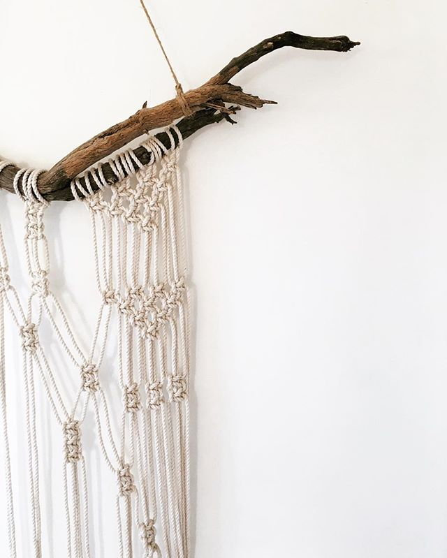 It was recently stated, on an interiors blog, that macrame is out this year. I don't agree.