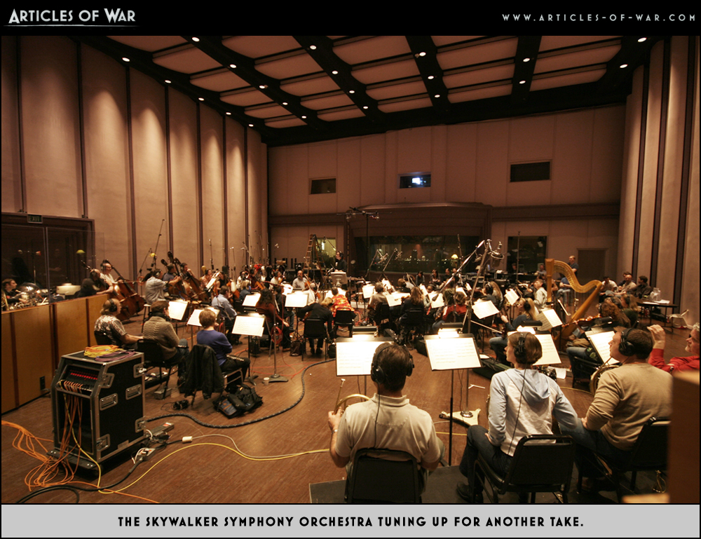 A photo from the Articles of War recording session.