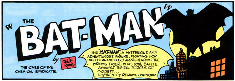 The very first Batman panel!