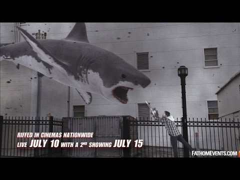Flying shark vs. man wielding chainsaw.  Any questions?