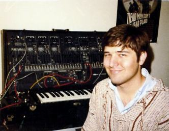 Stephen and his ARP synthesizer