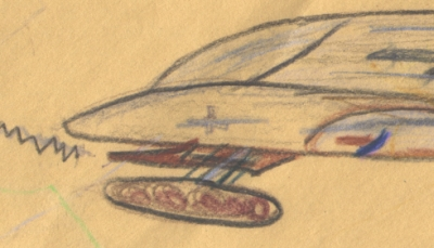Stephen's drawing of the Cind-E Ship