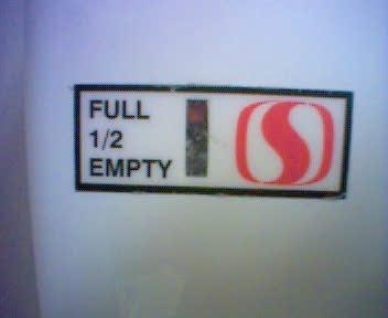 Half Full or Half Empty at Safeway (C) Stephen Clarke-Willson
