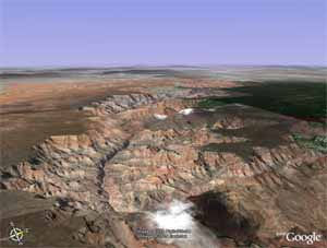 Google Earth view of the Grand Canyon