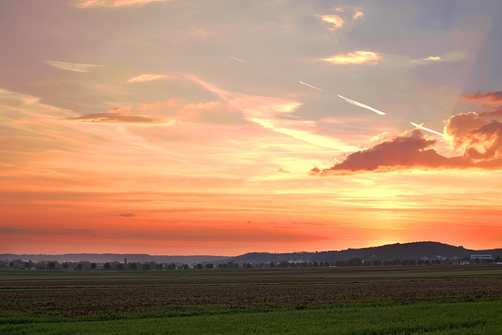 Sunset over Schonaich Germany