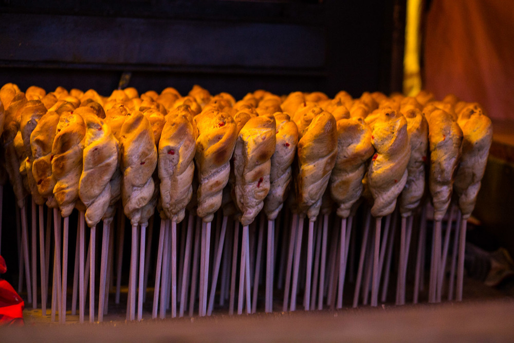 Would you like some delicious bread on a stick?