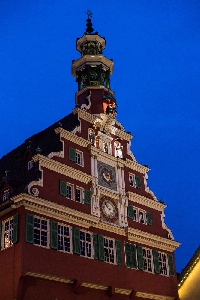 The old rathaus (town hall) in Esslingen