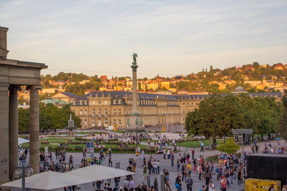 Stuttgart at the Schlossplatz