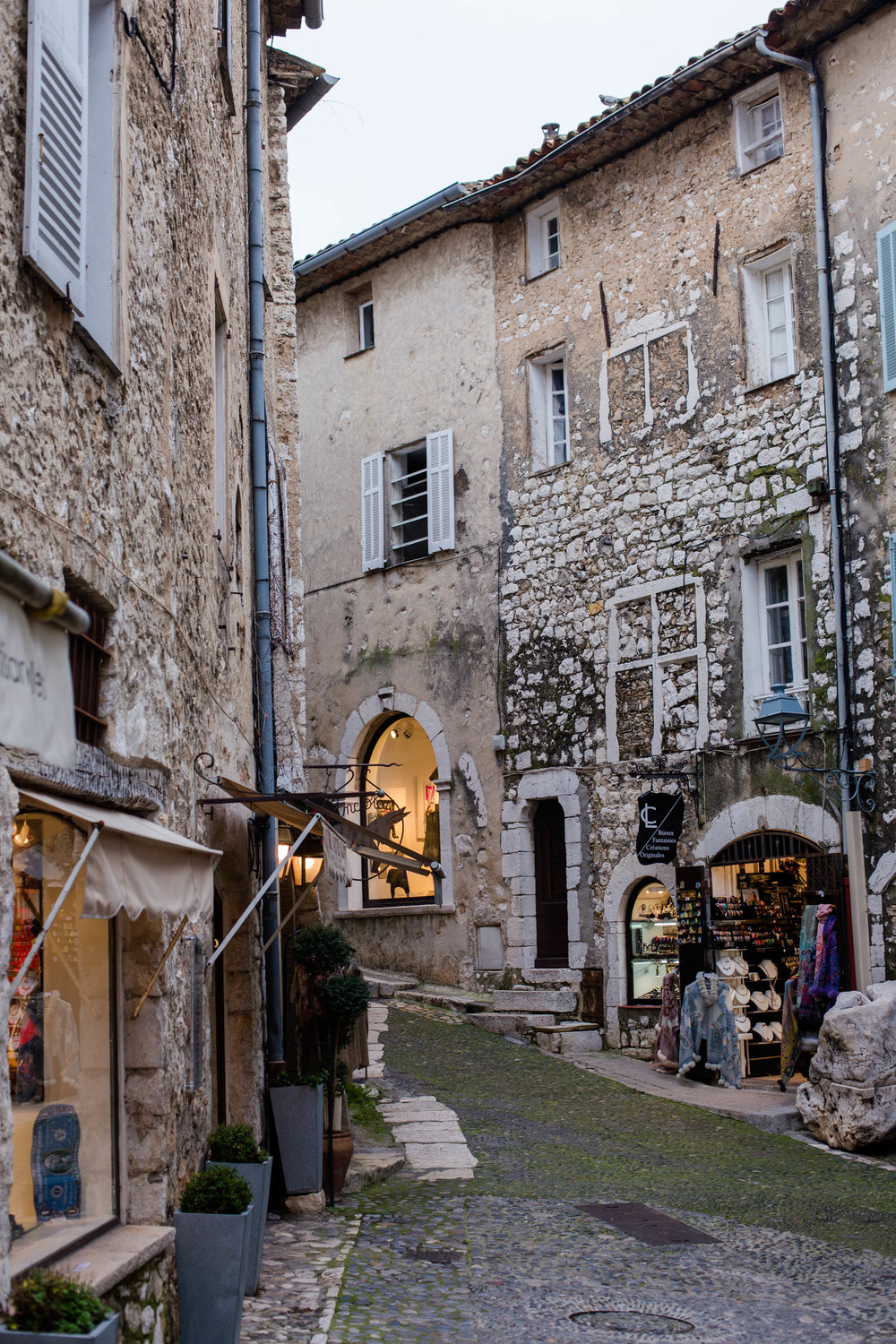 A medieval town in the French Riviera