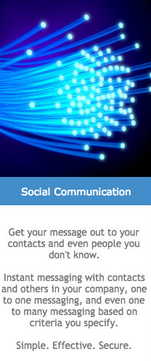 social communication like linkedin and twitter