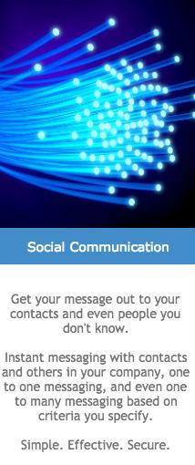 social communication like linkedin and twitter