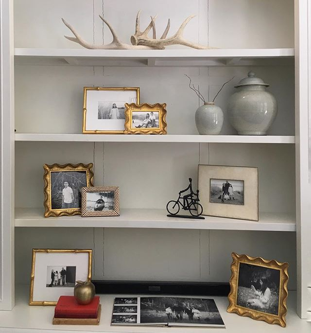 When you walk in and see your work styled like this...sigh... #displayyourphotos #adelaidechildrensphotographer #aipp #aippaccreditedprofessionalphotographer #blackandwhitephotography #interiordesign #adelaide