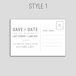 a2e22b8b2f Vintage-Inspired Save the Date Postcards — Nightingale Handmade